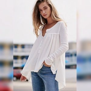 Free People | We The Free Kai White Henley